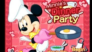 Mickey Mouse Games   Minnie's Dinner Party Game   Cooking Games