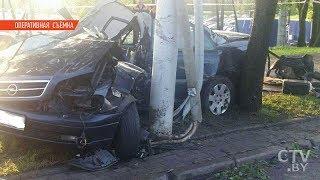 Ночная погоня в Минске: водитель Opel погиб