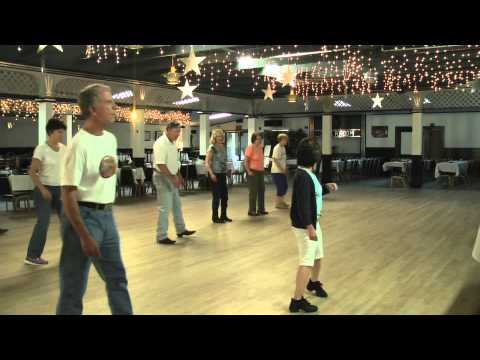 Linedance lesson Stroll Along Cha Cha  choreo. rodeo cowboys