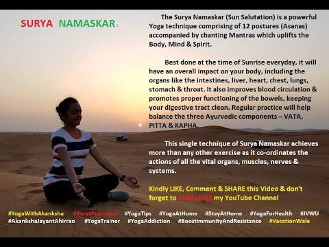 yoga with akanksha  surya namaskar  youtube