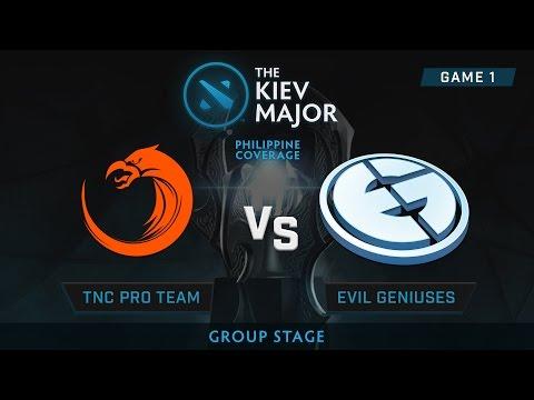 TNC Pro Gaming vs Evil Geniuses | Kiev Majors : Group Stage | Philippine Coverage | Game 1
