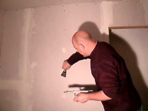 skimming plasterboard walls youtube. Black Bedroom Furniture Sets. Home Design Ideas
