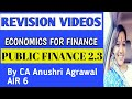 Chapter 2 Unit 1 ll Fiscal Functions ll Economics for Finance ll CA INTER