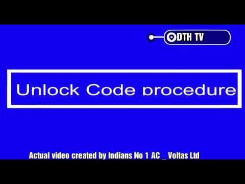 Unlock code procedure Apply for Voltas Ac model no 183SZS & 183izi3
