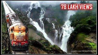 AMARAVATHI EXPRESS, DUDHSAGAR WATERFALLS, BRAGANZA GHATS | Indian Railways thumbnail