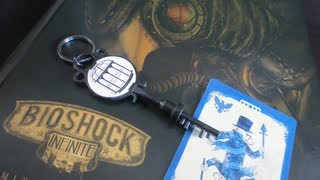 Bioshock Infinite Limited Edition Strategy Guide Unboxing Bird/Cage Key Playing Card