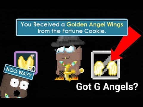 Opening 50 Fortune Cookies! GOT G ANGELS!?   Growtopia
