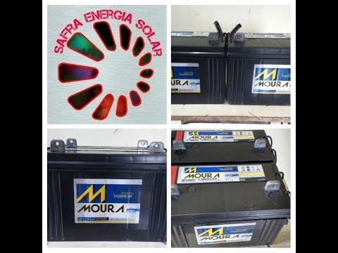 Como montar banco de baterias em 12 e 24 volts