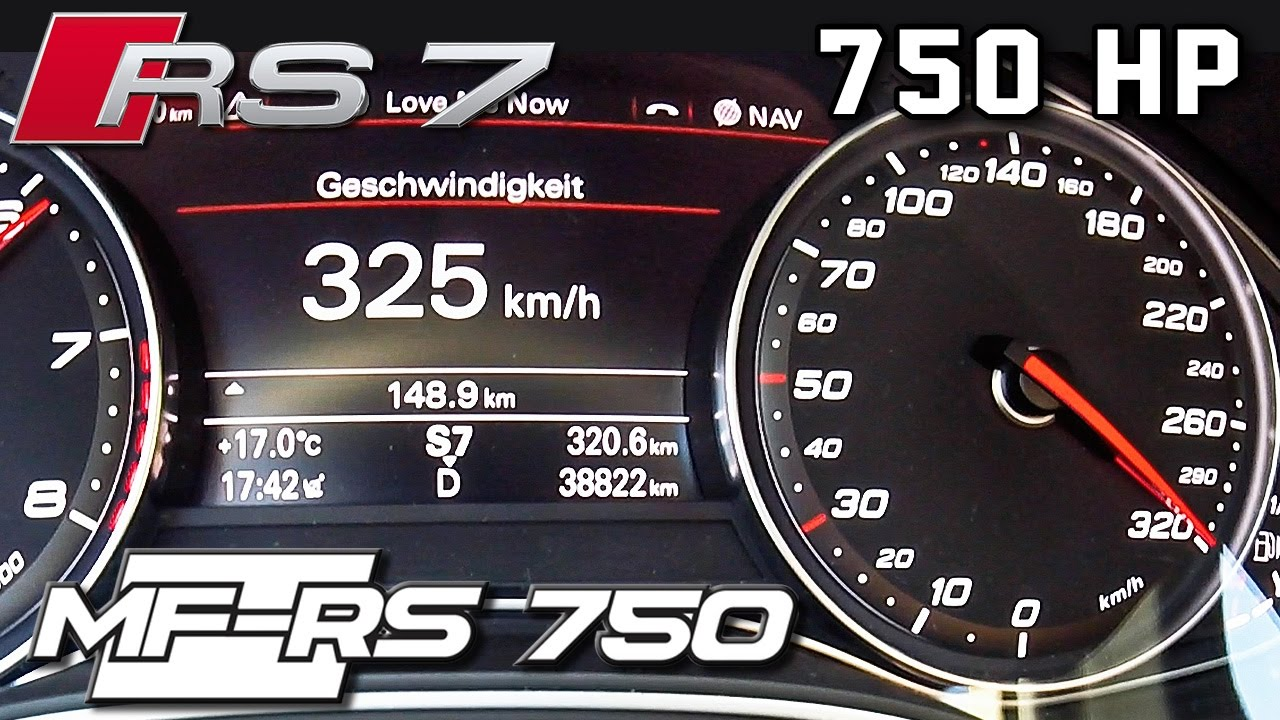 Audi RS7 750 HP 0-325 km/h ACCELERATION & TOP SPEED by AutoTopNL ...
