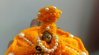बसंत पंचमी पर कान्हा जी की पीली पगड़ी (Very Very easy knitted.) राधे राधे.