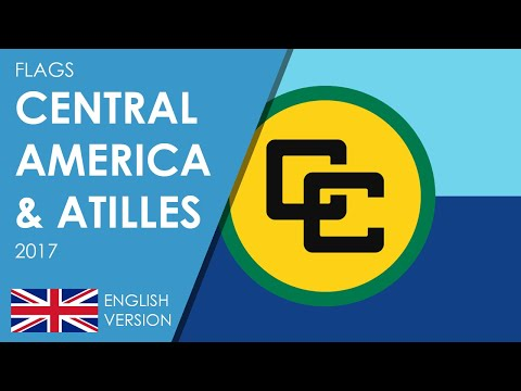 Flags of Central America and Antilles 2017