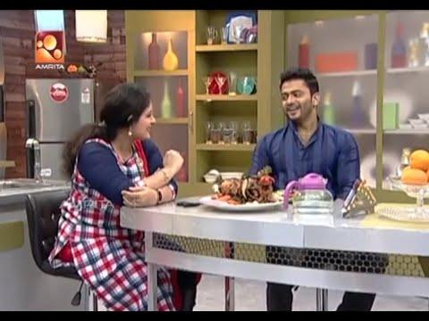 Annies Kitchen With Film Actor Manikuttan |  Stuffed Chicken Roast |