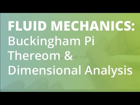 how to remember dimensional analysis in fluid mechanics