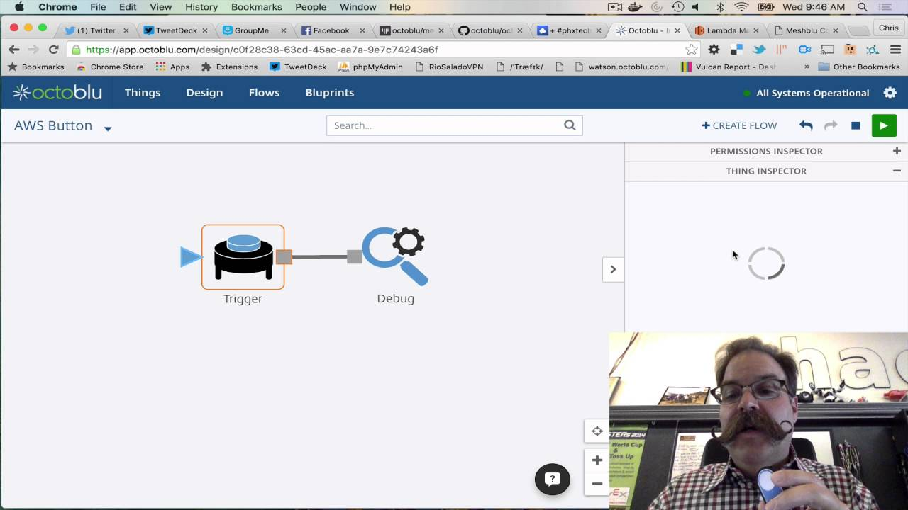 AWS IoT Button Connected to @Octoblu