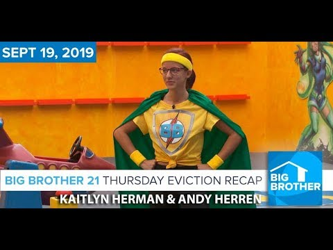 Big Brother 21 Thursday Night Sept 19 FINALE Recap | Kaitlyn Herman & Andy Herren #BB21