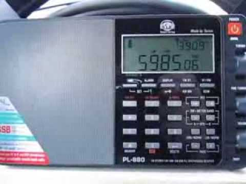 Tecsun PL-880 vs Tecsun PL-660 on Myanmar Radio 5985 Khz
