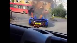 McLaren p1 in the crash Fire