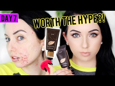 TARTE AMAZONIAN CLAY 12-HOUR FOUNDATION {First Impression Review & Demo!} 15 DAYS OF FOUNDATION