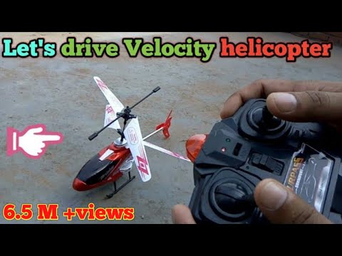 Velocity helicopter (Infrared control) Unboxing and flying testing.