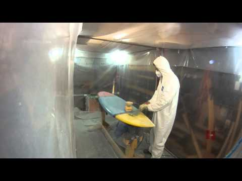 How to Build a Shortboard Surfboard - 28 - Sanding Hotcoat