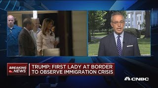 Melania Trump visits border detention facility