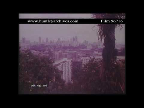 High Rise in Singapore in 1982.  Archive film 96716