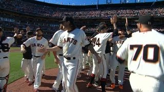 10/2/16: Giants clinch a spot in the Wild Card Game
