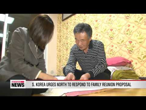 South Korea urges North to respond to family reunion proposal
