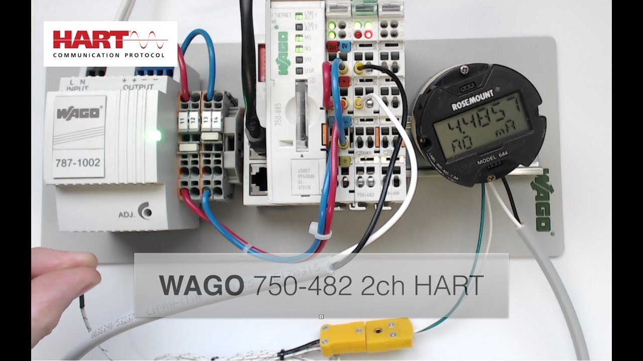 WAGO 750-482 2ch Analog Input HART Module w\ Rosemount Transmitter