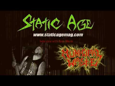 Interview with Ryan Waste from Municipal Waste, Persistence Tour 2017, Dresden