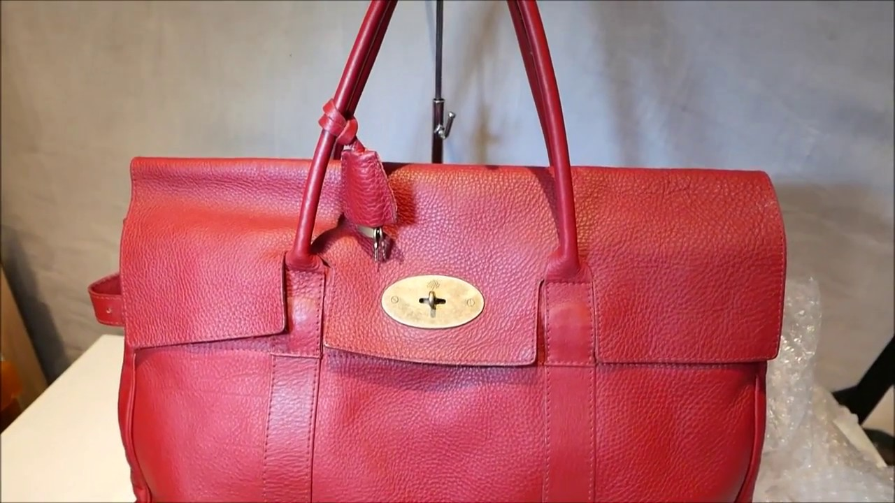 Red Mulberry Xl Bayswater Piccadilly Weekend Bag