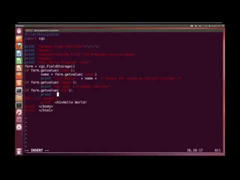 Python Advanced Tutorial 7 - CGI Programming