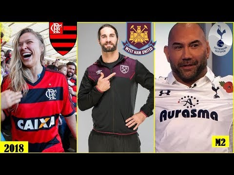 20 WWE WRESTLERS & Their Favourite Football (Soccer) Clubs