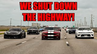 We SHUT DOWN The HIGHWAY On a CRAZY CAR CRUISE!!