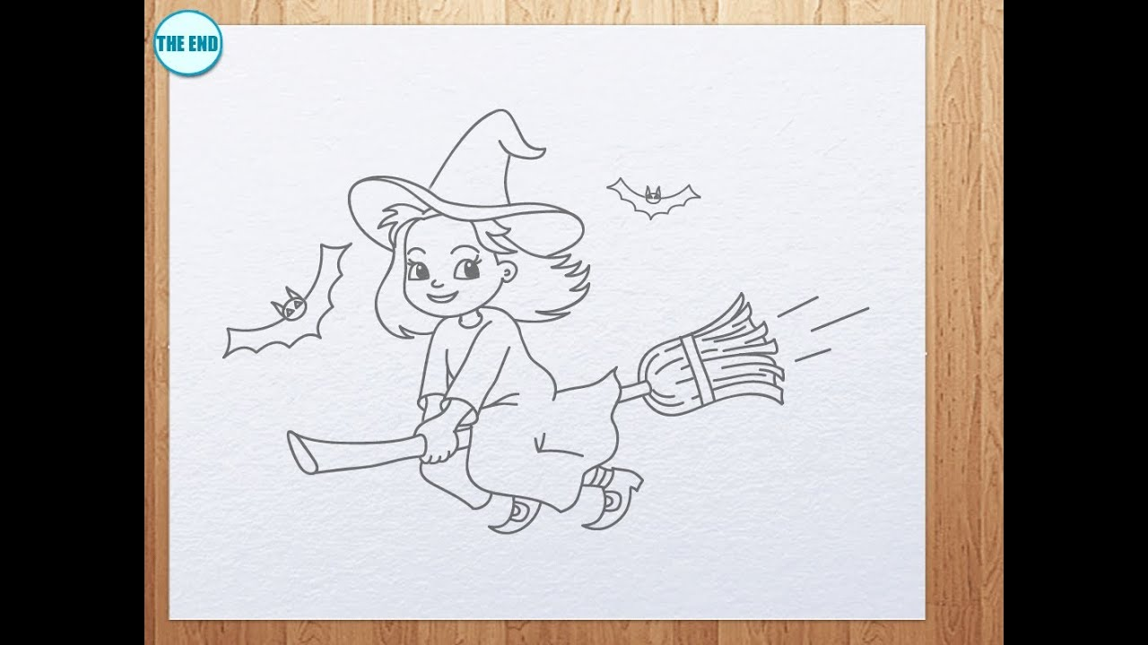 Uncategorized Easy To Draw Witch how to draw a cute witch youtube witch
