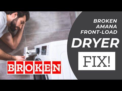 Broken Amana front-load Dryer - NO HEAT - how to fix! NED7200TW