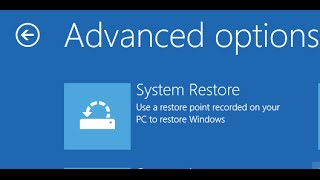How perform System Restore In Windows 8 and windows 8.1