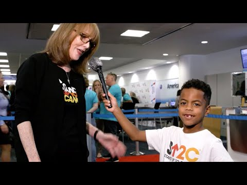 Kid Reporter Stands Up To Cancer