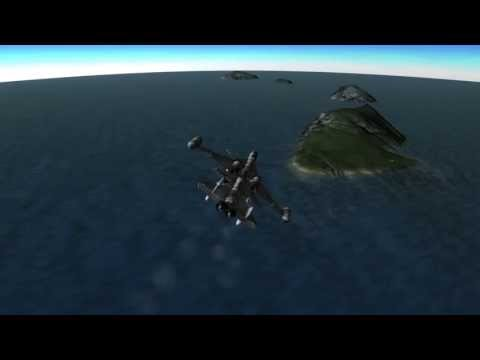 Kerbal Space Program (KSP) - SSTO vehicle lifts payload to orbit and returns.