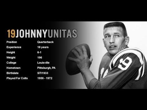 2014 Johnny Unitas Mcfarlane NFL Baltimore Colts