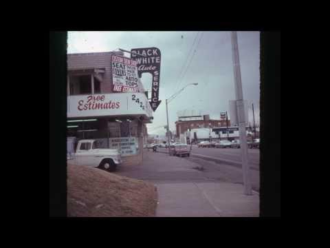 Slides of Denver, Colorado #1 1974 - 1976 City Street Life signs stock photos
