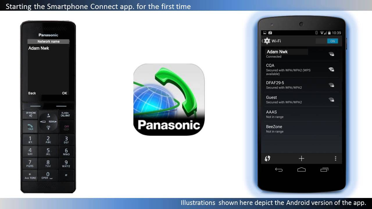 How to download and start the Smartphone Connect app  for a Panasonic  Telephone