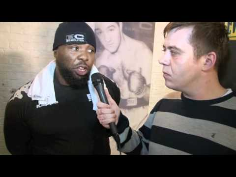 DON CHARLES INTERVIEW FOR iFILM LONDON / MEDIA WORKOUT / CHISORA v KLITSCHKO