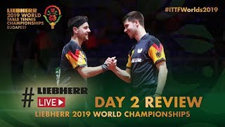 Day 2 Review presented by #LiebherrLive | Liebherr 2019 World Table Tennis Championships