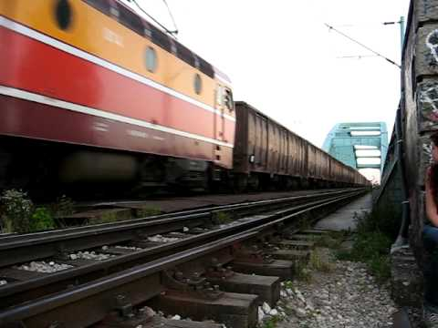 Freight train in Zagreb