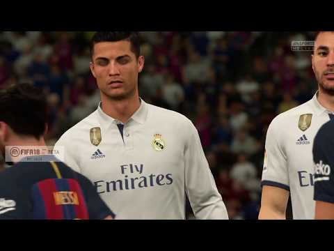 FIFA 18 : BARCELONA VS REAL MADRID GAMEPLAY (PENALTY SHOOTOUT)