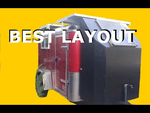 5x8 Cargo Trailer Conversion - Insulation, Batteries, Convertible Desk - Part 2