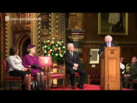 Irish President, Michael D. Higgins, addresses Parliament