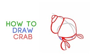 ABC Song for kids - How to Draw a Cute Cartoon Hermit Crab