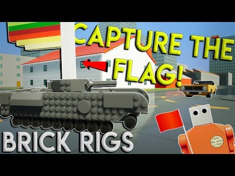 LEGO TANK CAPTURE THE FLAG! - Brick Rigs Multiplayer Gameplay Challenge
